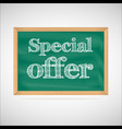Special offer - the inscription chalk vector image vector image