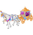 the golden carriage vector image vector image