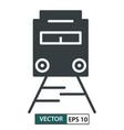 train icon symbol flat design isolated on white vector image