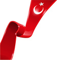 turkey flag background vector image vector image