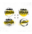 urban hipster photography contest rough rustic vector image vector image