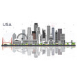 usa city skyline with gray buildings and vector image vector image