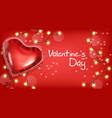 valentine day heart balloon and lights vector image vector image