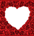 valentines day red roses heart inverted isolated vector image
