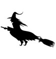 wicked halloween witch silhouette vector image vector image
