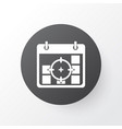 business goals icon symbol premium quality vector image