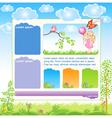 Cartoon Kid web template vector image