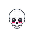 scary skull on white vector image