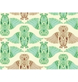 Hand-Drawn Owl in abstract pattern vector image