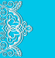 cut paper frame with lace stripe ornament vector image
