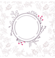 floral frame with background vector image