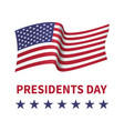 happy presidents day banner vector image