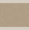 3d brown brick pathway pattern vector image vector image