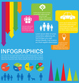 A colourful infochart vector image vector image