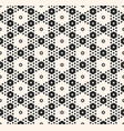 abstract geometric seamless pattern monochrome vector image vector image