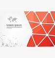 abstract red geometric design template with vector image