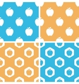Apple pattern set colored vector image