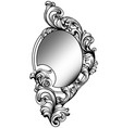 baroque round mirror frame imperial decor vector image vector image