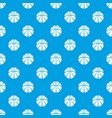 basketball pattern seamless blue vector image