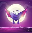 bat vampire - cartoon horror characters vector image vector image
