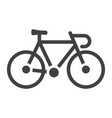 bicycle glyph icon transport and vehicle bike vector image vector image