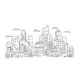 big city panorama future sketch hand drawn vector image