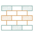 bricks wall pile icon vector image