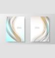 bright beautiful smooth wavesbrochure design vector image