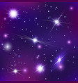 bright stars and constellations in night sky vector image vector image