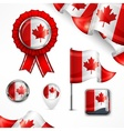 Canadian national symbols vector image vector image
