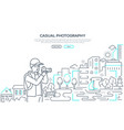 casual photography - line design style web banner vector image