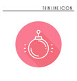 christmas ball thin line icon new year vector image vector image