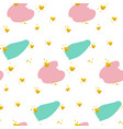 cute brush paint grunge seamless pattern vector image vector image
