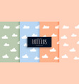 cute clouds pattern set in pastel colors vector image vector image