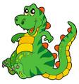 cute sitting dinosaur vector image vector image