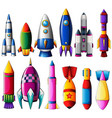 different designs for rockets vector image vector image