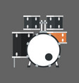 drum set icon music instrument concept vector image