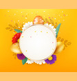 easter card layout layered vector image