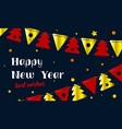 festive background happy new year and merry vector image vector image