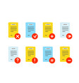 file document icon set hand drawn vector image