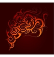Fire flame abstraction vector image