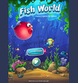 fish world match 3 playing field vector image
