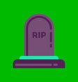 flat icon on background halloween grave vector image vector image