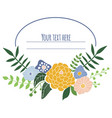 floral frame with place for text vector image vector image