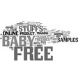 free baby stuffs online text background word vector image vector image