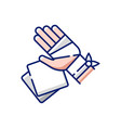 gauze bandages and pads rgb color icon