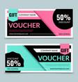 gift vouchers premium certificate promotion sale vector image