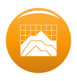 graph icon orange vector image vector image