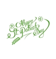 happy st patricks day lettering greeting card vector image