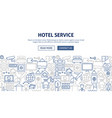 hotel service banner design vector image